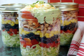 How To Make Southwestern Layered Salad & Edible Flower