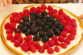 How To Make Berry Fruit Pizza With Blackberry And Raspberry For 4th July