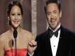 71st Golden Globe Awards 2014 Presentation -- Robert Downey Jr. and Jennifer Lawrence