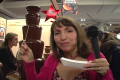 Chocolate Fountain At New York Chocolate Show  Video