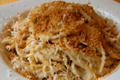 How To Make Cauliflower Spaghetti Alfredo With Crispy Parmesan Crumbs