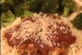 Chicken Parmesan over Orzo with Roasted Lemon Garlic Broccoli