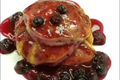 How To Make Lemon Soufflé Pancakes With Blueberry Sauce