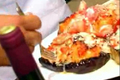 Baked Eggplant with Lobster Stuffing