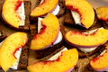 How To Make Savory Peach And Mozzarella Fresca Bruschetta On Walnut Bread
