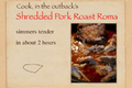 Shredded Pork Roast Roma Recipe Video