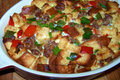 How To Make A Breakfast Casserole with Sausage and Peppers