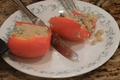 Bell Pepper Stuffed Quinoa with Mint Sauce Part 2 - Cooking the stuffed bell pepper and Making the Mint sauce