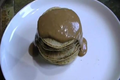 Pancakes with Organic Almond-Chocolate Sauce