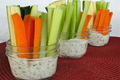 Dill Dip with Veggies in a Jar