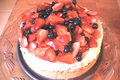 Red, White & Blue No Bake Cheesecake