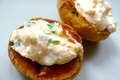 Baked Potato with Yogurt Topping