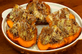 How To Make Baked Pumpkin With Bacon Apple And Cheese Stuffing