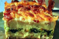 How To Make Brunch Strata with Arugula & Pear Salad