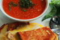 Tomato Soup and Grilled Cheese with Prosciutto