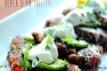 Black Bean Fritters with a Parsley Yogurt Dip