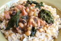 How To Make New Year's Special Black Eyed Peas With Pork And Greens