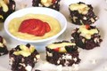 Black Rice Fruit Nori Rolls with Mango Sauce