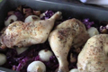 Braised Red Cabbage with Lemon Thyme Chicken