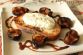 Burrata Cheese Topped Brochette With Black Mission Figs