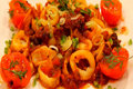 Calamari with Tomato, Cilantro, Chipotle Sauce 