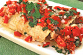How To Make Roasted Eggplant And Chicken Enchiladas And Tomato Salsa