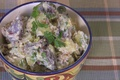 How To Make Colorful Potato Salad with Pickles and Celery