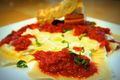 Cheesy-Herbed Ravioli in a Tangy Marinara Sauce