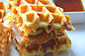 Chicken and Bacon Waffle Sandwiches