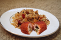 Savory Chicken Kiev With Pecan Wild Rice