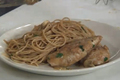 Healthy Weight Loss Diet Chicken Picatta with Mushrooms and Whole Wheat Pasta