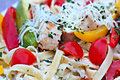 Chicken Vegetable Fettuccine Alfredo - Home Date Night!