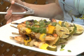 How To Make Chipotle Shrimp, Ripe Mango And Sweet Onion Kebabs