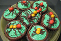 How To Make Halloween Cup Cakes With Chocolate Bugs Topping