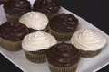 Cocoa-Vanilla Frosted Cupcakes