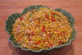 Sauted Fresh Corn With Onions and Sweet Peppers and Natural Corn Cream