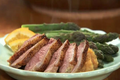 Duck Breast on Orange Leek and Sweet Potato Puree HD