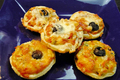 Eggless Mini Savory Tarts