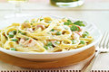 Fettuccine with Prosciutto & Peas 
