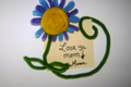 Back to School Crafts: Reminder Flower Fridge Magnet