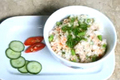 How To Make Tuna, Asparagus And Crab Roe With Fried Rice