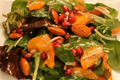 Fuyu Persimmon Salad With Moroccan Sweet Vinaigrette