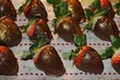 How To Make Glittering Golden Chocolate Covered Strawberries