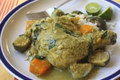 How To Make Fragrant Green Coconut Curried Chicken