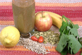 How To Make Green Fruit, Vegetable And Seeds Smoothie