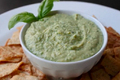 Fresh Basil Garbanzo and White Bean Hummus