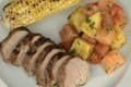 How To Make Grilled Pork Tenderloin With South-west Fruit Salad