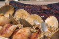 How To Make Grilled Rib Steak With Seared Scallops In Clam Sauce