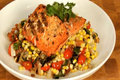 How To Make Grilled Salmon With A Roasted Corn Succotash