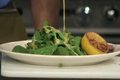 Pan Seared Steak with Lemon Vinaigrette Dressed Arugula